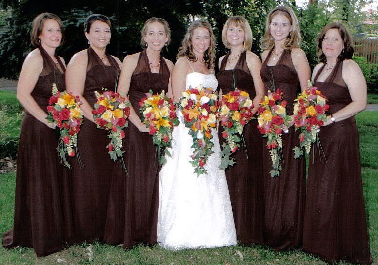 Cascading Fall Bridal Bouquets Fall Bridal Bouquet Set of