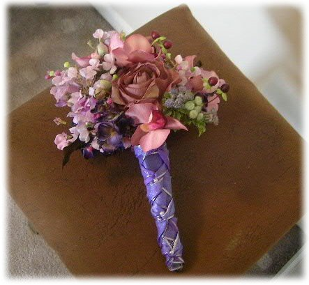 Rustic Wild And Earthy Wedding Bouquet All Silk