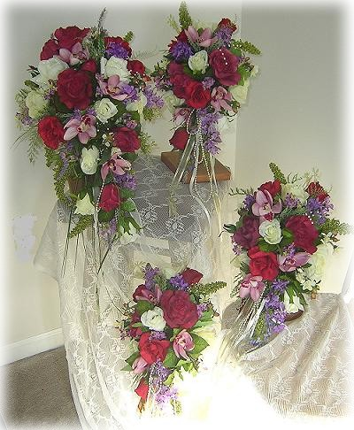 Silk Wedding Bouquets on Wedding Floral Packages