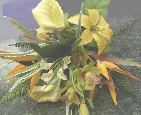 Tropical Silk Wedding Bouquets on Silk Tropical Flowers You Would Swear Were Just Picked From Hawaii And