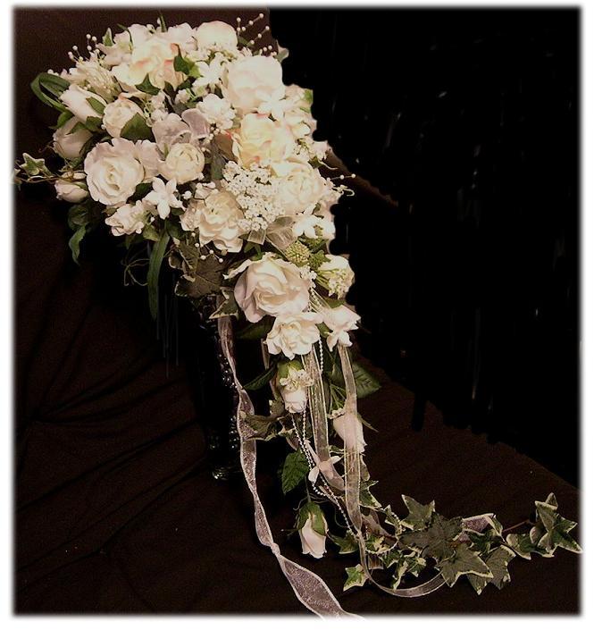 Cascade Bouquet Silk Wedding Flower: Traditional Weddings
